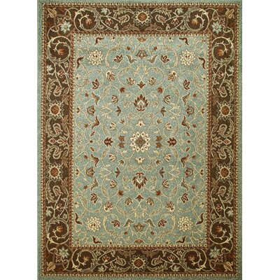 Chester Flora Blue Rug Rug Size: Rectangle 53 x 73