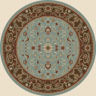 Chester Flora Blue Rug Rug Size: Round 7'10