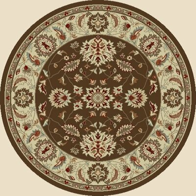 Chester Brown Oushak Area Rug Rug Size: Round 53