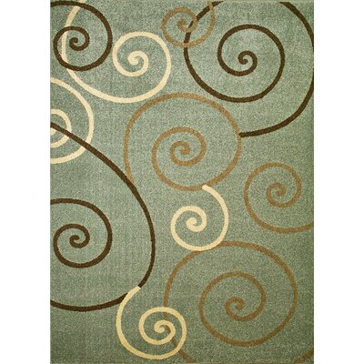 Chester Scroll Area Rug Rug Size: Round 53