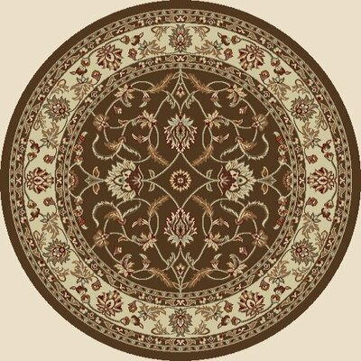 Chester Sultan Brown Rug Rug Size: Round 53