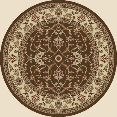 Chester Sultan Brown Rug Rug Size: Round 710