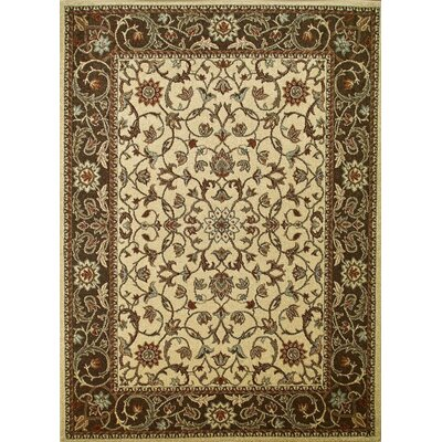 Chester Flora Ivory Rug Rug Size: 53 x 73