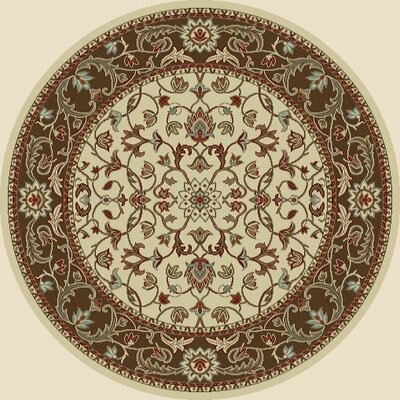 Chester Flora Ivory Rug Rug Size: Round 53