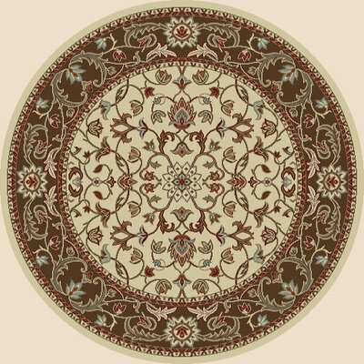 Chester Flora Ivory Rug Rug Size: Round 710