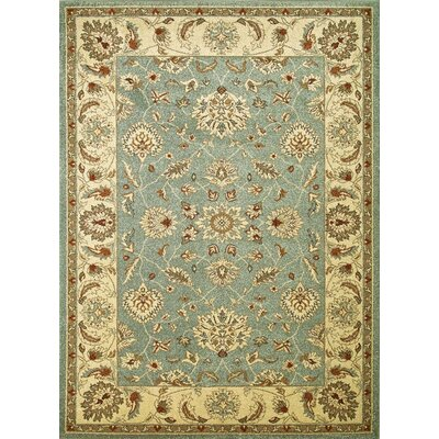 Chester Blue Oushak Area Rug Rug Size: 53 x 73