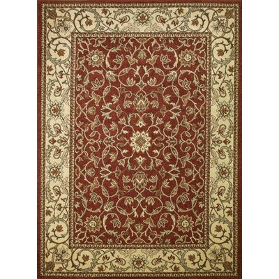 Chester Flora Red Rug Rug Size: 33 x 47