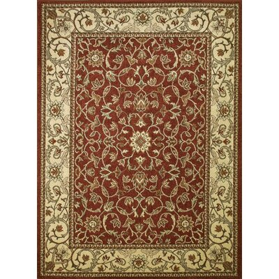 Chester Flora Red Rug Rug Size: 27 x 41