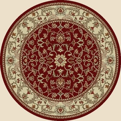 Chester Flora Red Rug Rug Size: Round 53