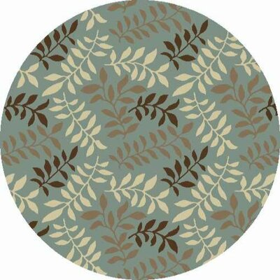 Chester Green Leafs Arear Rug Rug Size: Round 53