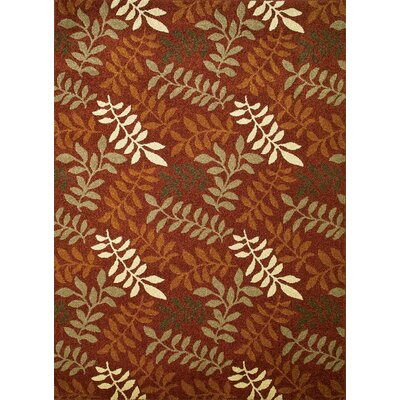 Chester Red Leafs Area Rug Rug Size: 710 x 106