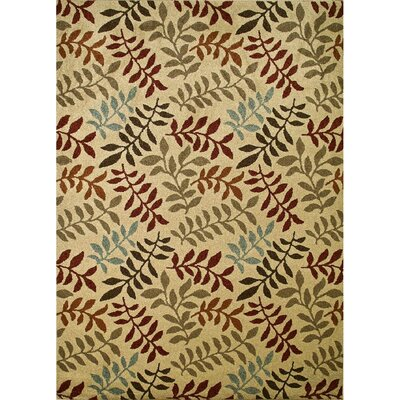 Chester Ivory Leafs Area Rug Rug Size: Rectangle 53 x 73