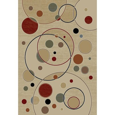 Jewel Balloons Ivory Contemporary Rug Rug Size: Rectangle 67 x 93