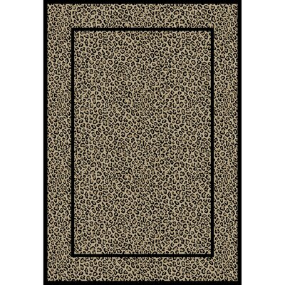 Jewel Leopard Beige Area Rug Rug Size: Rectangle 67 x 93