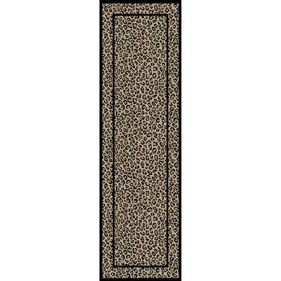 Jewel Leopard Beige Area Rug Rug Size: Runner 23 x 77