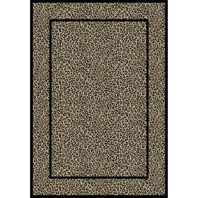 Jewel Leopard Beige Area Rug Rug Size: 67 x 93
