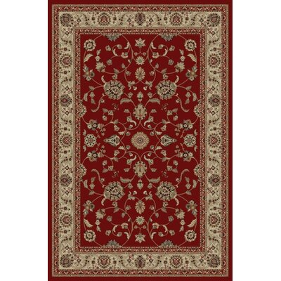 Jewel Marash Red Area Rug Rug Size: Rectangle 53 x 77