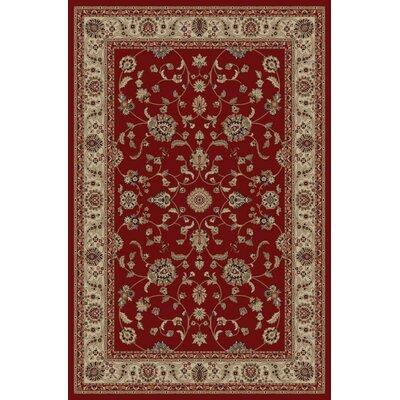 Jewel Marash Red Area Rug Rug Size: 53 x 77