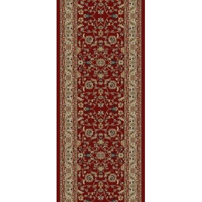 Jewel Marash Red Area Rug Rug Size: Runner 23 x 77