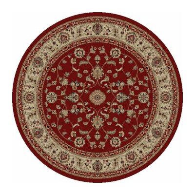 Jewel Marash Red Area Rug Rug Size: Round 53