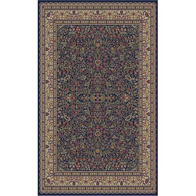 Jewel Sarouk Navy Area Rug Rug Size: Rectangle 710 x 910