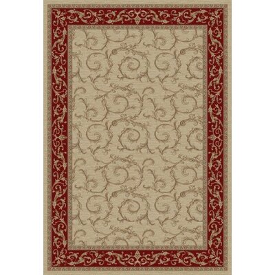 Jewel Veronica Ivory Floral Area Rug Rug Size: 53 x 77