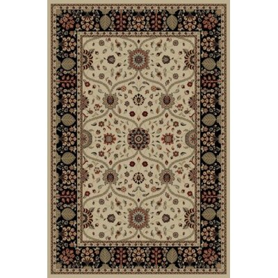 Jewel Voysey Ivory Floral Area Rug Rug Size: Rectangle 93 x 126