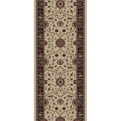 Jewel Voysey Ivory Floral Area Rug Rug Size: Runner 23 x 77