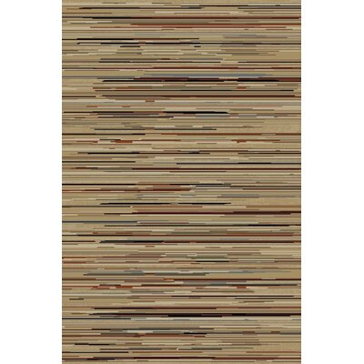 Jewel Striation Gold Stripes Area Rug Rug Size: 67 x 93
