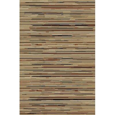 Jewel Striation Gold Stripes Area Rug Rug Size: 27 x 4