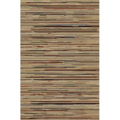 Jewel Striation Gold Stripes Area Rug Rug Size: 311 x 57