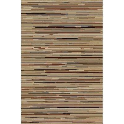 Jewel Striation Gold Stripes Area Rug Rug Size: 311 x 57