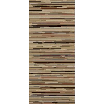 Jewel Striation Gold Stripes Area Rug Rug Size: Runner 23 x 77