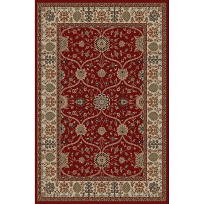 Jewel Voysey Red Floral Area Rug Rug Size: 67 x 93
