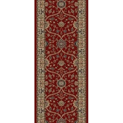 Jewel Voysey Red Floral Area Rug Rug Size: Runner 23 x 77