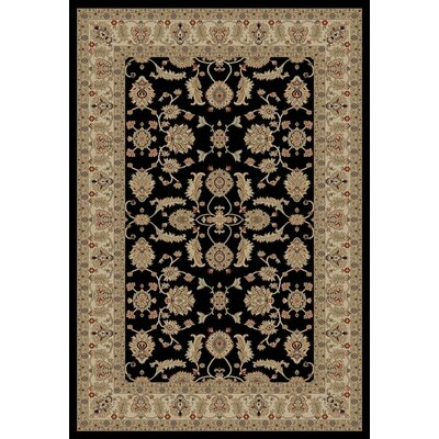 Jewel Antep Black Area Rug Rug Size: 53 x 77