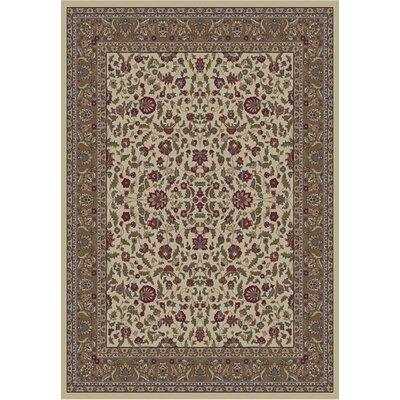 Jewel Kashan Ivory Area Rug Rug Size: 710 x 910