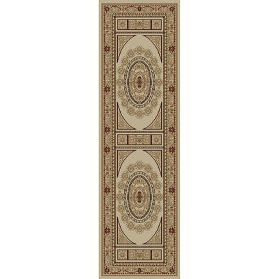 Jewel Aubusson Ivory Area Rug Rug Size: Runner 23 x 77