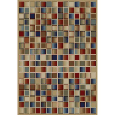 Jewel Checkerboard Brown Area Rug Rug Size: 53 x 77