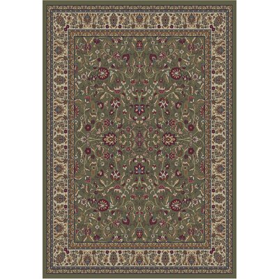Jewel Kashan Green Area Rug Rug Size: 311 x 57