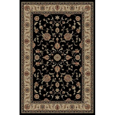 Jewel Marash Black Area Rug Rug Size: Rectangle 93 x 126