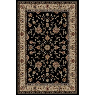 Jewel Marash Black Area Rug Rug Size: 53 x 77