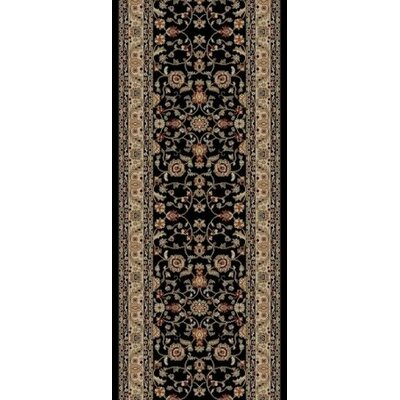 Jewel Marash Black Area Rug Rug Size: Runner 23 x 77