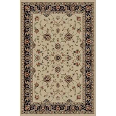 Jewel Marash Ivory Area Rug Rug Size: Rectangle 93 x 126
