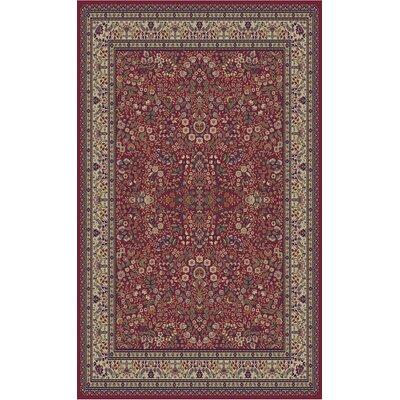 Jewel Sarouk Red Floral Area Rug Rug Size: 311 x 57
