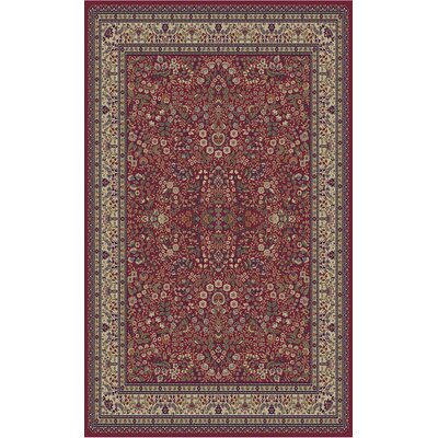 Jewel Sarouk Red Floral Area Rug Rug Size: 67 x 93