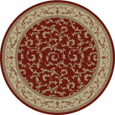 Jewel Veronica Red Floral Area Rug Rug Size: 93 x 126