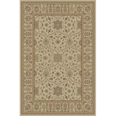 Jewel Voysey Ivory/Tonel Floral Area Rug Rug Size: Rectangle 53 x 77
