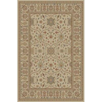 Jewel Voysey Ivory/Tonel Floral Area Rug Rug Size: 710 x 910