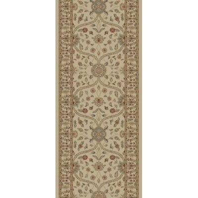 Jewel Voysey Ivory/Tonel Floral Area Rug Rug Size: Runner 23 x 77